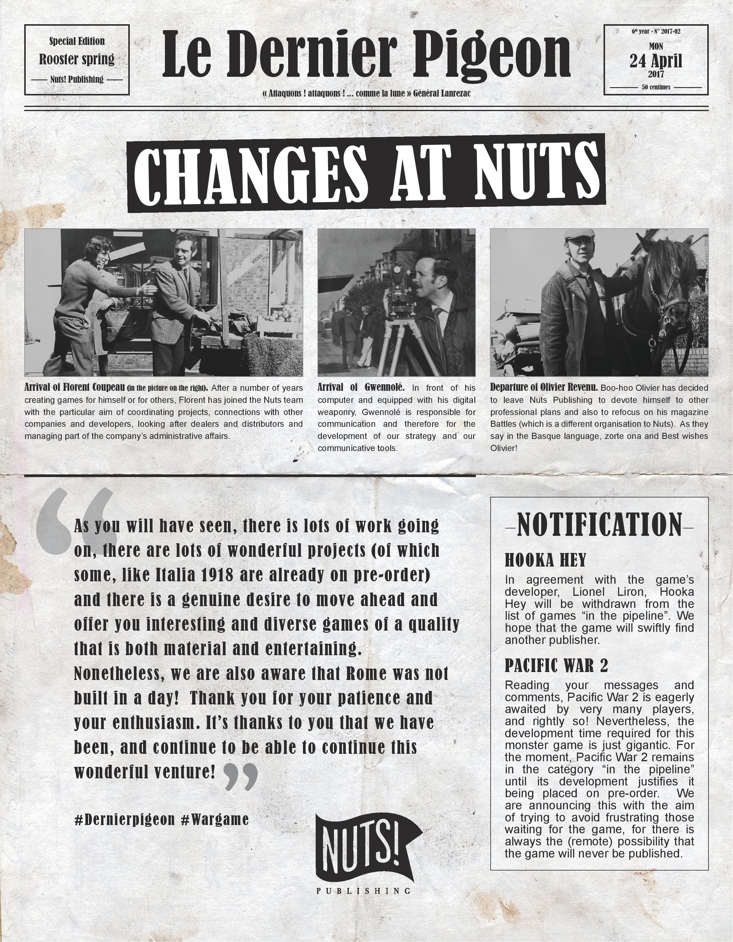 Nuts Publishing Newsletter